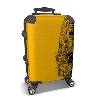 Wave yellow Suitcase