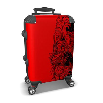 Wave Red Suitcase