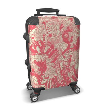 Pink Wave Suitcase