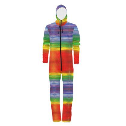 Bright Paint Stripe Rainbow Hazmat Suit