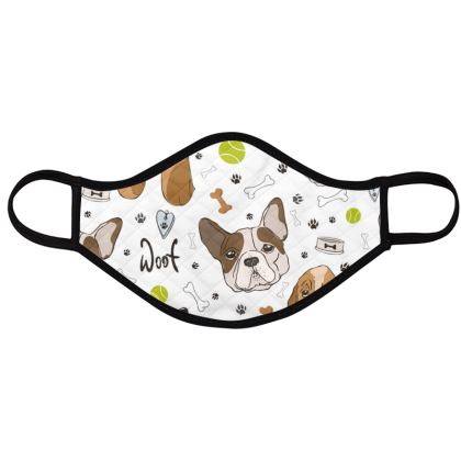 sweet dogs face masks pack of four