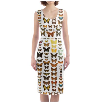 Butterfly and Moth Bodycon Dress