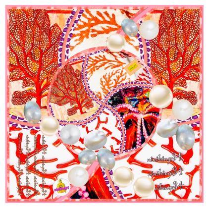 195,- Badeshorts Herren in Pearls & Corals, size L