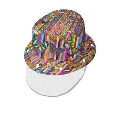 Rainbow Butterflies Bucket Hat and Visor