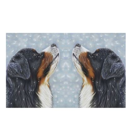 Bernese Mountain Dog Bone China Mug - Blissful Blue