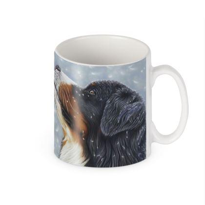 Bernese Mountain Dog Chunky Mug - Blissful Blue