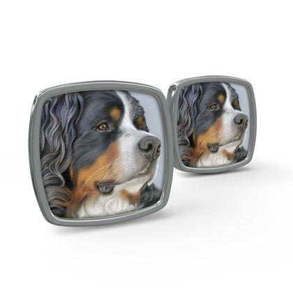 Bernese Mountain Dog Cufflinks - Regal