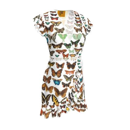 Victorian Illustration Butterfly and Moth Tea Dress