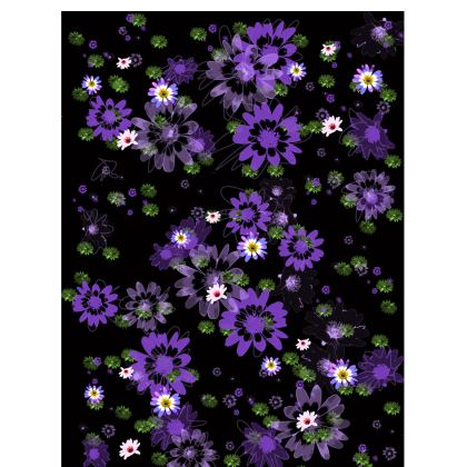 Ladies T-shrit with Purple Daisy Flowers