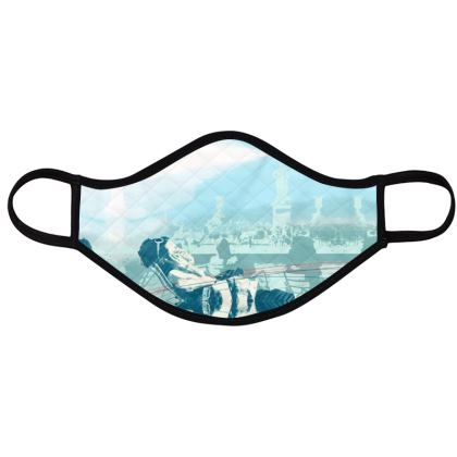 PACK - Reusable Face Mask - Urban pattern in Blue
