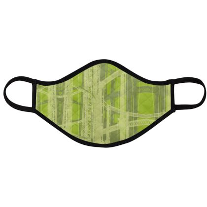 PACK - Reusable Face Mask / Geometric Pistachio