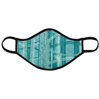 PACK - Reusable Face Mask / Geometric All BLUE