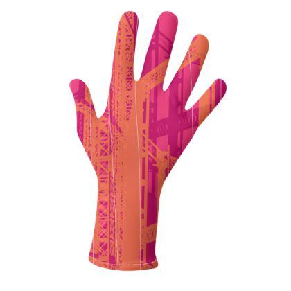2 PAIRS PACK - Gloves / Geometrical Pink and Aqua Blue