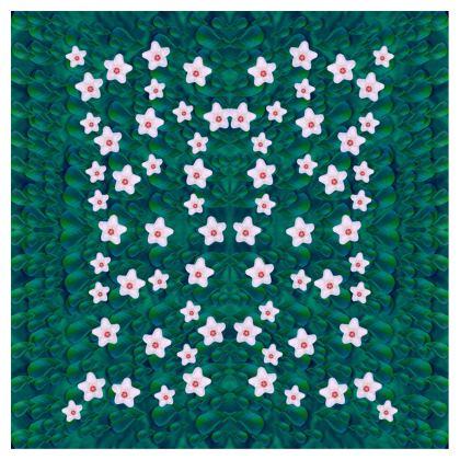 porcelain flowers  on leaves Ladies Bomber Jacket