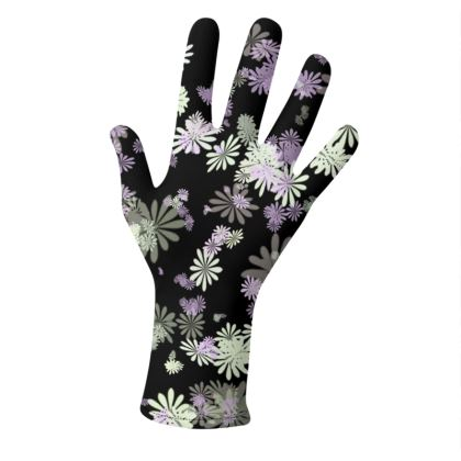 2 PAIRS PACK - Gloves Floral Pink and Blue