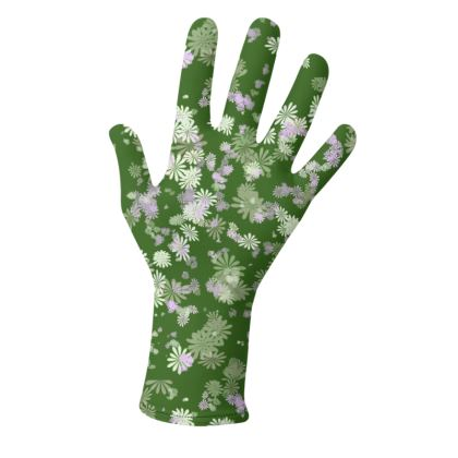 2 PAIRS PACK - Gloves Floral Green and Orange