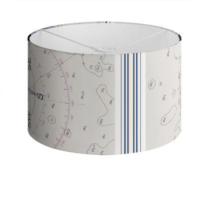 Compass Points design Drum Lampshade
