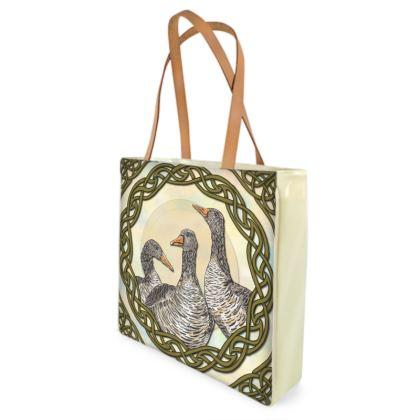 Celtic Geese Shopper Bag