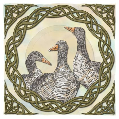 Celtic Geese Scarf, Wrap or Shawl