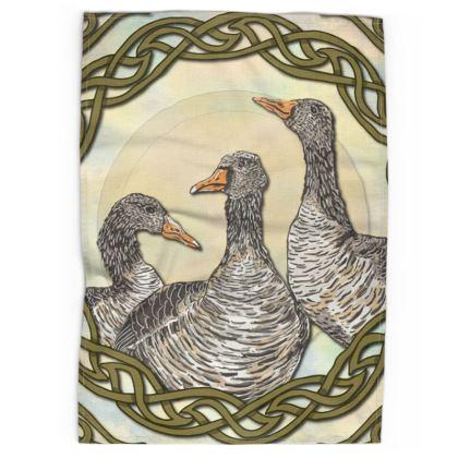 Celtic Geese Tea Towel