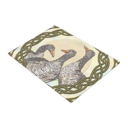 Celtic Geese Glass Chopping Board