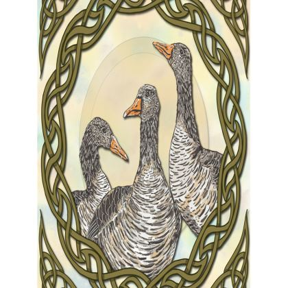 Celtic Geese Tray
