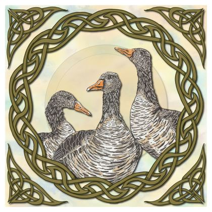 Celtic Geese China Plate