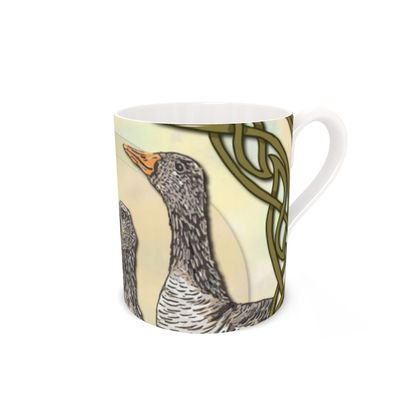 Celtic Geese Bone China Mug