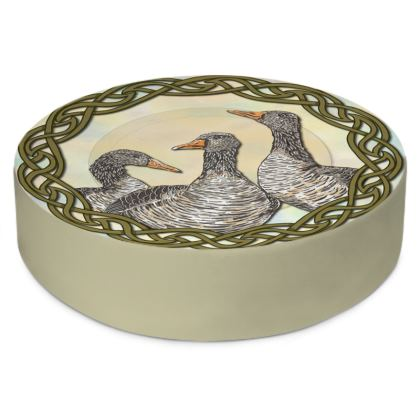 Celtic Geese Round Floor Cushions