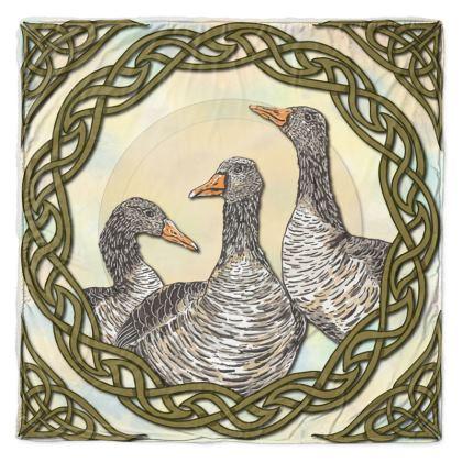 Celtic Geese Throw Blanket
