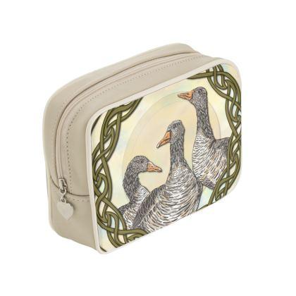 Celtic Geese Make Up Bag