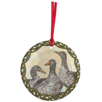 Celtic Geese Hanging Ornament