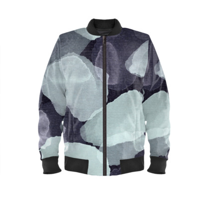 Night Petals Ladies Bomber Jacket