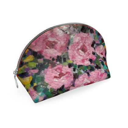 Pink Flowers in the Middle Coin Purse by Alison Gargett