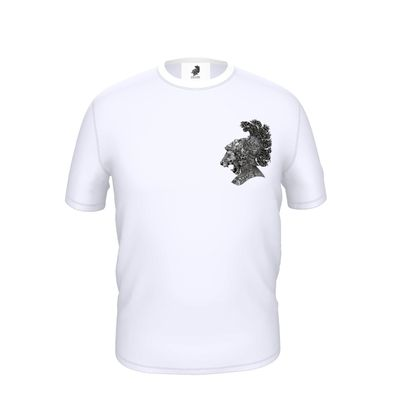 Lion Heart Back-print Cut and Sew T Shirt