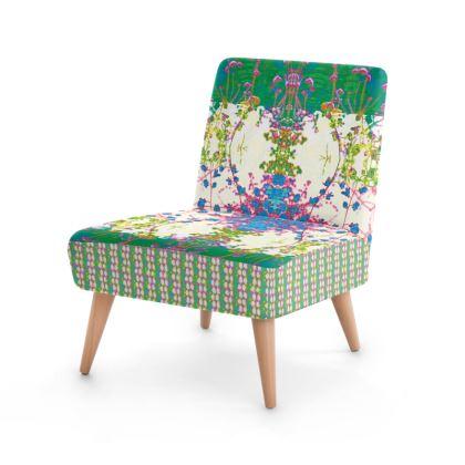 Emerald Leaf Print Occasional Chair