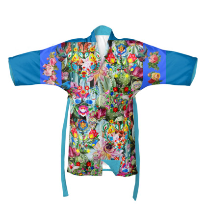 Wings To Fly Blue Frida Kimono
