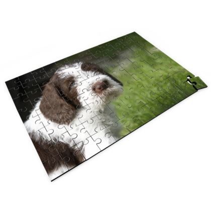 Brown Roan Italian Spinone Puppy Dog Jigsaw Puzzle