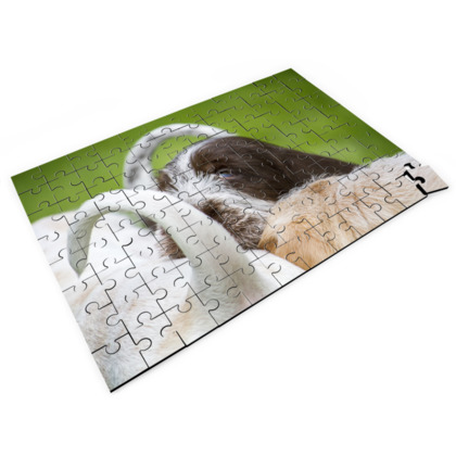 Italian Spinoni Puppy Dog Tails Jigsaw Puzzle