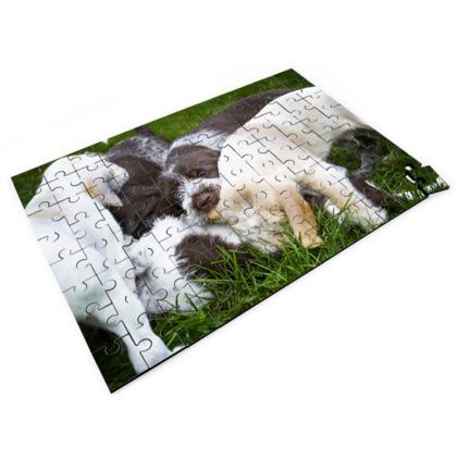 Italian Spinoni Puppy Dog Pile Up Jigsaw Puzzle