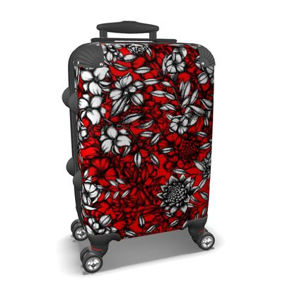 Flowers Red Suitcase