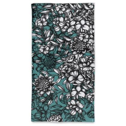 Blue Flowers Neck Tube Scarf
