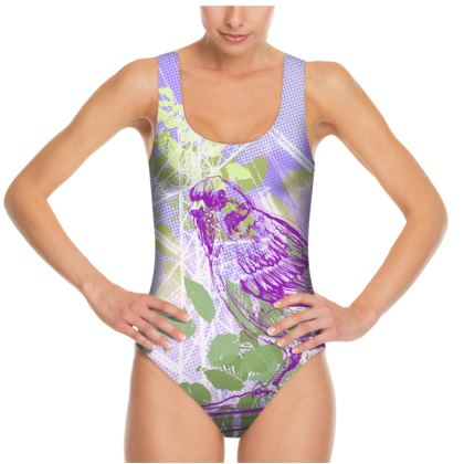 WOMENS SWIMSUIT - Violet Ready to Fly