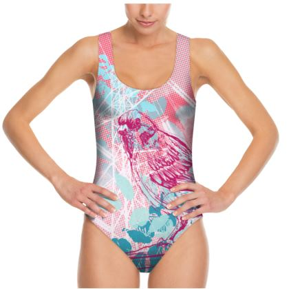 WOMENS SWIMSUIT - PINK Ready to Fly