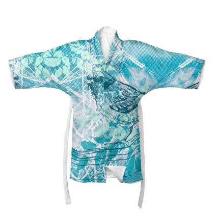 Kimono - Birds in Blue
