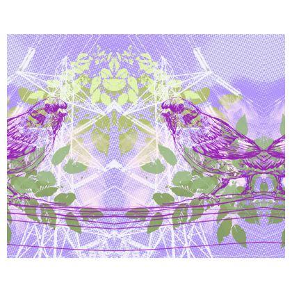 Kimono - Birds in Violet