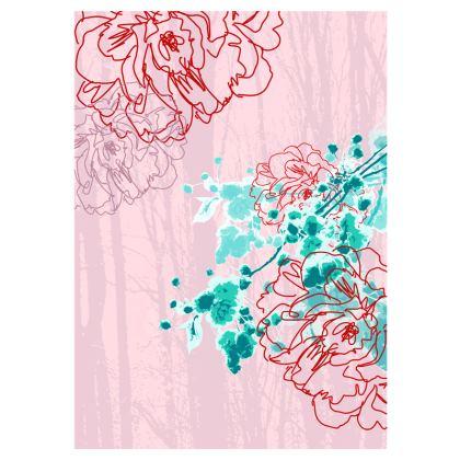 Flip Flops - Floral in Pink