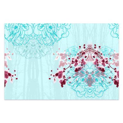 Sarong / Pareo in Aqua Blue Florals