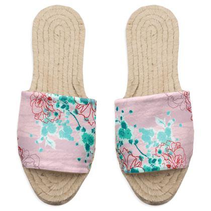 Sandal Espadrilles in Pink Florals