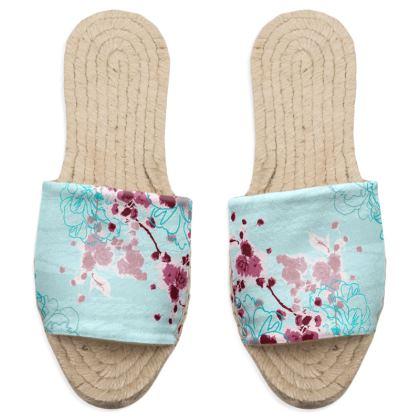 Sandal Espadrilles in Aqua Blue